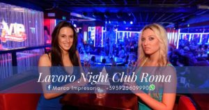 lavoro night club roma