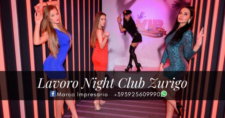 lavoro night club zurigo svizzera