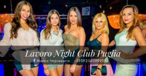 lavoro night club puglia