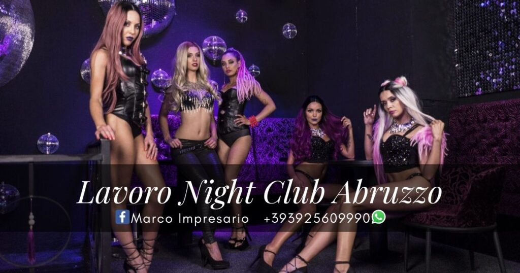 lavoro night club abruzzo