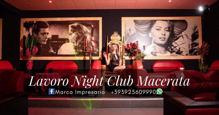 lavoro night club macerata