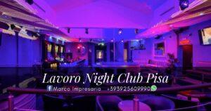 lavoro night club pisa