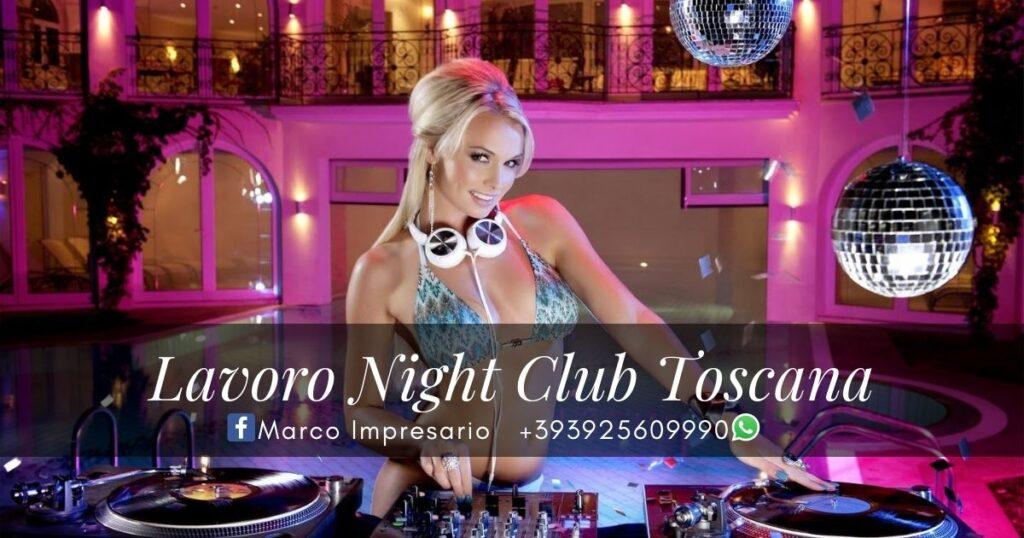 lavoro night club toscana
