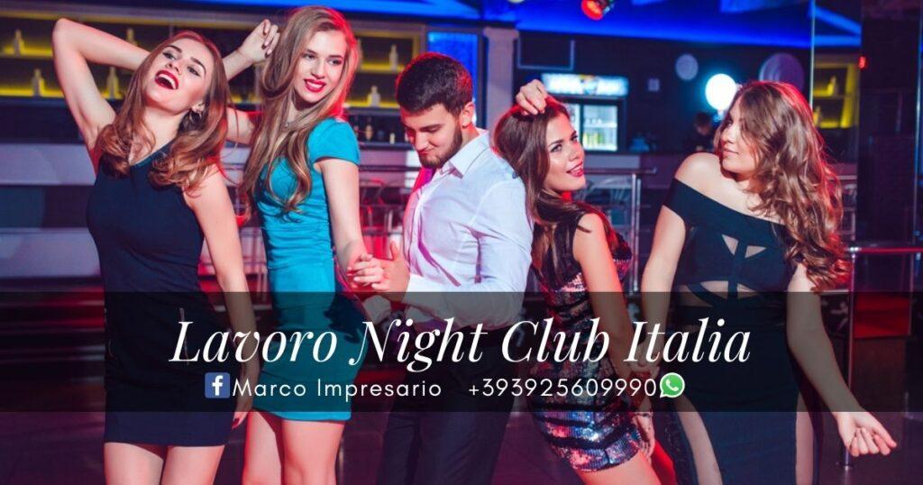 lavoro night club italia