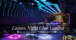 lavoro night club londra