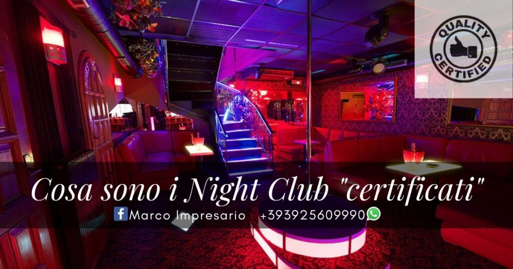 night club certificati