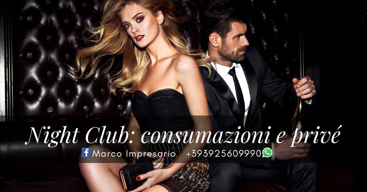 Night Club privé consumazioni bottiglia