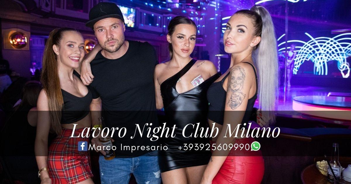 cerco lavoro night club milano