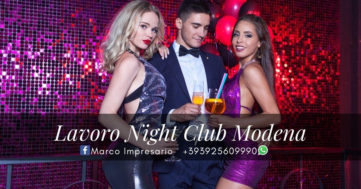 lavoro night club Modena